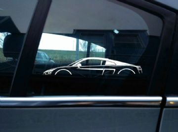 2X Car silhouette stickers - for Audi R8 Coupe (2nd gen, 2015+) | supercar